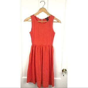 H&M : Bright Orange High-Low Fit & Flare Dress